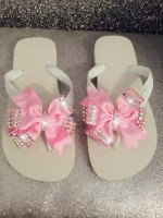 Customised Crystal Havaianas with Bows