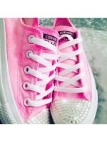 """Customised Children's Converse """"Bubblegum Glitter Sparkle Pink"""""""