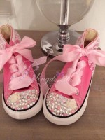 """Customised Crystal Children's Converse """"Butterfly Beautiful"""""""