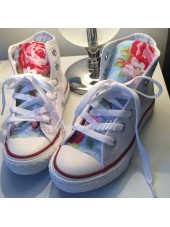 "Customised Crystal Children's Converse ""Cath Kidston"""
