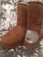 Customised Crystal Adult's Chestnut Short Uggs