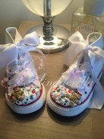 "Customised Crystal Children's Converse ""Christmas Spirit"""