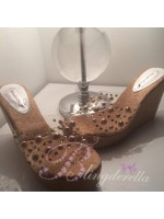 Customised Crystal Adult's  Clear Wedges