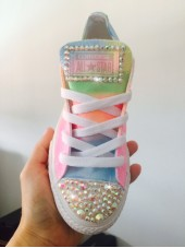 "Customised Crystal Adult Converse  ""Coachella Pastel"""