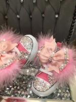"""Customised Crystal """"Fairy Dust"""" Crib Shoe"""