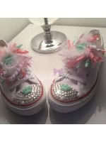 "Customised Crystal Children's Converse ""Crown Clouds"""
