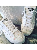 """Customised Children's Converse """"Crystal Glitter Cement"""""""