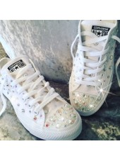 """Customised Adult's Converse """"Crystal Glitter Cement"""""""