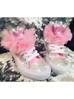 """Customised Children's Converse """"Crystalette Queens"""""""