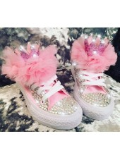 "Customised Adult's Converse ""Crystalette Queens"""