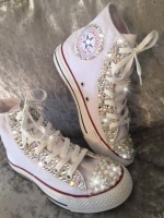 """Customised Children's Converse """"Crystalettes"""""""