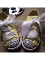 "Customised Crystal Children's Converse ""Daffodil"""