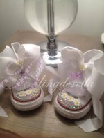 "Customised Crystal Children's Converse ""Daisy Baby"""