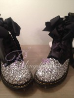 Customised Crystal Children's Dr Marten's