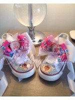 "Customised Crystal Children's Converse ""Doc Mc"""