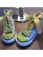 "Customised Crystal Children's Converse ""Easter Fun"""