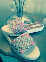 Customised Crystal Adult's Flat Summer Sandals