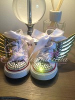 "Customised Crystal Children's Converse ""Fly Away With Me"""