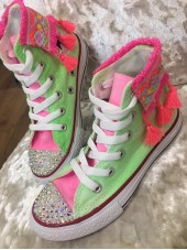 "Customised Adult's Converse ""Funfair Melon"""