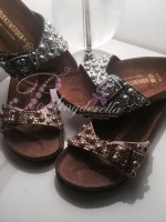 Customised Crystal Adult's Birkenstock in Gold