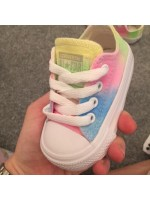 "Customised Crystal Children's Converse ""Glitter Pastel No Bling"""