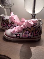 Customised Crystal Children's Converse Graffiti Name