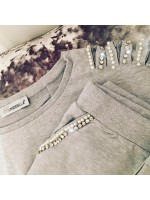 Customised Crystal Blingderella Tracksuit Grey