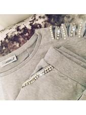 Customised Crystal Blingderella Tracksuit Grey