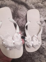 Customised Crystal 2016 Havaianas with Bows