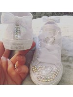 "1 Customised Adult's Converse ""Twinkle Hearts"""
