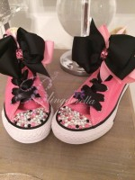 "Customised Crystal Children's Converse ""homecoming Queen"""