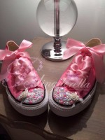 "Customised Crystal Children's Converse ""Iced Pinks"""