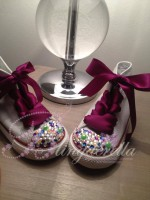 "Customised Crystal Children's Converse ""I Love The Circus"""