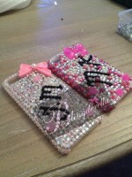 "Customised iPhone Case ""Bright Pink & Initials"""