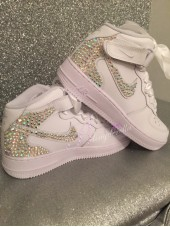 "Children's Crystal Nike Air Force ""Katie"""