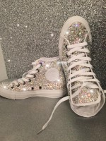 """All Over Crystal Converse Hi Tops """"Katie P - Full"""""""