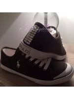 Ralph Lauren Khaki Crystalised Shoes