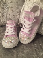 "Customised Children's Converse ""Lavender Fields"""