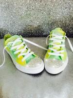 """Customised Crystal Adult Converse """"Lemon & Lime"""""""