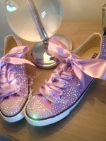 "Adult's All Crystal Converse  ""Lilacs"""