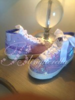 Customised Crystal Children's Nike Blazers - Lilac