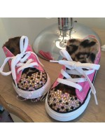 """Customised Crystal Children's Converse """"Furry Leopards"""""""