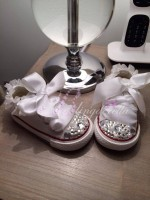 "Customised Crystal Children's Converse ""Little Treasures"""