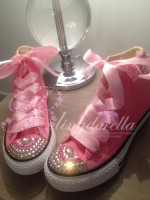 "Customised Crystal Children's Converse ""Living Doll"""