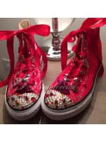 "Customised Crystal Children's Converse ""My Little Rocker"""