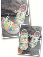 "Customised Children's Converse ""Neon Explosion"""