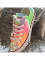 """Customised Crystal Converse Low Tops """"Neon Part 2"""""""