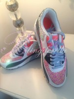 Children's Pink Crystal Nike Air Max