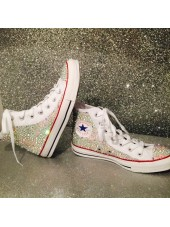 NEW All Over Crystal Converse Hi Tops