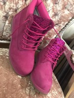 Customised  Adult's Pink Timberlands
